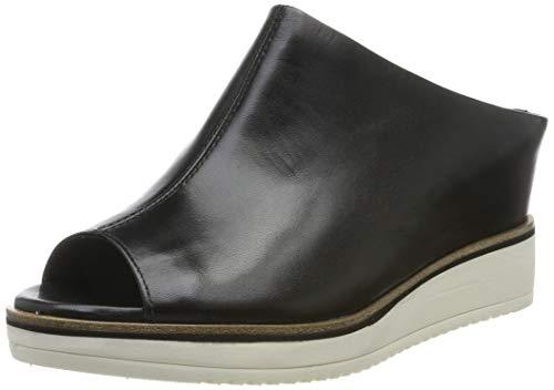 200-22 Pantoletten, Schwarz (Black Leather 3), 40 EU ()