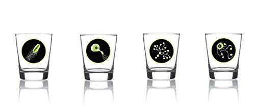 Las bacterias más simpáticas de Voodoo Island se han colado en nuestra colección de vasos. Estos bichitos inofensivosquieren estar presentes cuando se sirva el licor pero también son ideales para un buen espresso doble... ¡Tu decides