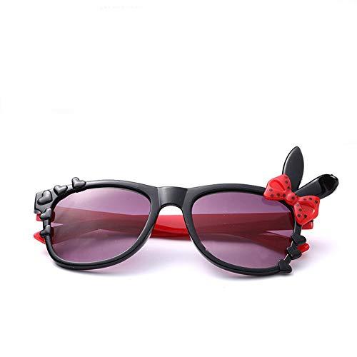 Baby Sonnenbrille, Sonnencreme, 0-3 Jahre, Hase schwarz