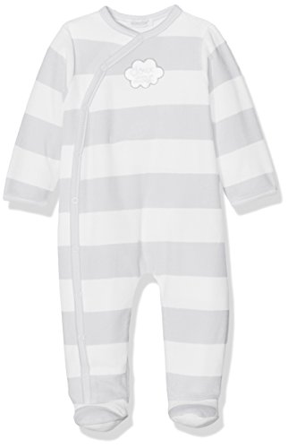 Absorba Boutique Unisex Baby Strampler Velours Essentiels, Grau (Gris Clair 21), 3 Monate