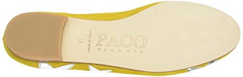 Paco Gil Damen P2969 Geschlossene Ballerinas Gelb (Sun/Argento)