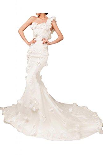 Sunvary Special Royal Mermaid spalle GardenWedding vestiti da spiaggia in Organza White