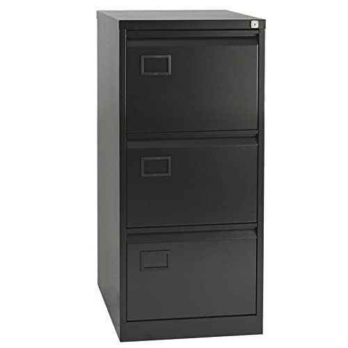 Office Hippo Bisley 3-Drawer Filing Cabinet – Black