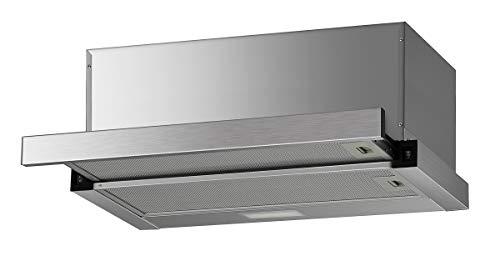 K&H 60cm Dunstabzugshaube, Flachschirmhaube, LED, 600 m³/h, Edelstahl, Energieklasse A, EFH03-60AS