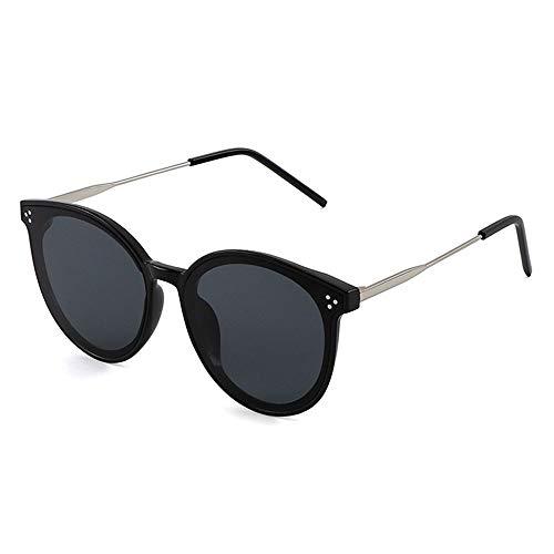 LeiQQ Sonnenbrille Im Damenstil, Retro Street Shot Sonnenbrille, Runder Rahmen, Treibende Sonnenbrille, UV4OO (Color : B)