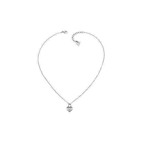 Guess stainless steel collection acciaio inossidabile collana con ciondolo a forma di cuore lucchetto zirconi filigrana usn81005uvp 95& # x20ac;
