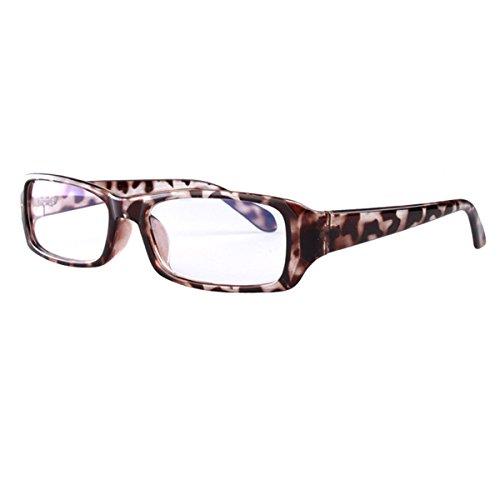 Milya Unisex Transparente Anti-UV-Anti-Müdigkeit Brille Blendschutz Brillen Sicherheitsbrille für Computer Telefon Tablets Leopard Muster