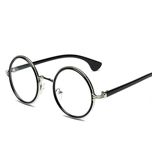 YUHANGH Unisex-Sonnenbrille Retro Brille Classic Round Metal Frame Eyewear Zubehör Vintage