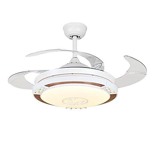 Ventilador de techo acrílico de 42 '' con luces LED y control remoto, lámpara de araña regulable...