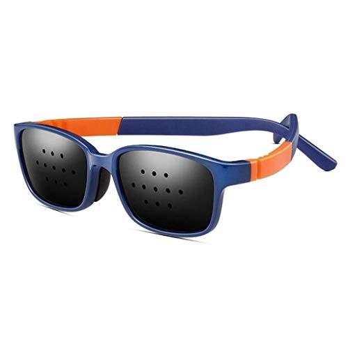 TTZ Sehkorrektur Brille verbessert Brillen, Gläser Vision Verbesserte Loch Brille Anti-Fatigue Brille Sicherheit Swap Wraparound Hybrid Augensicherheit (Color : Blue)