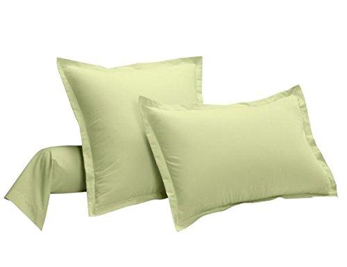 Taie d'oreiller 100% coton Bio Vert Uni 63 x 63 cm