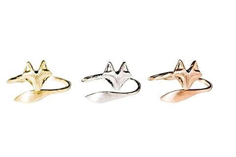 Fuchs Ring-a-Tier Ring, Fuchs Ring, einzigartig Ring, Miniatur Ring, täglich Ring, einfach Ring, Basic Ring, einstellbar Ringe, funky Ringe, Knöchel Ring, Midi- Ring Knöc