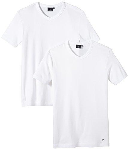 Daniel Hechter Herren T-Shirt V-doublep Weiß (White 1)