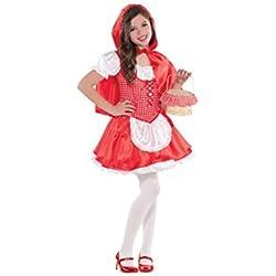 Amscan 999 708 Costume Cappuccetto Rosso, taglia 6-8 anni