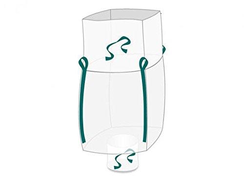 Enviro Big Bag 90x90x165 cm, Schürzendeckel, Auslaufstutzen, SWL 1. 150 kg