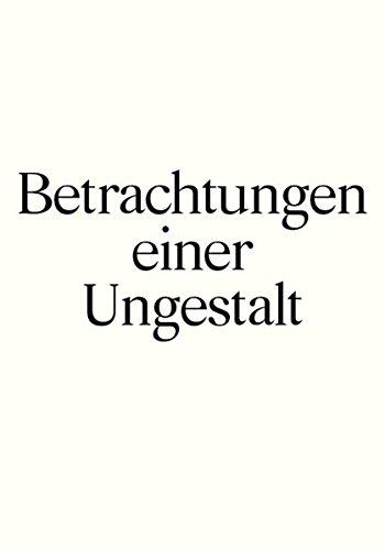 Die schönsten Schweizer Bücher 2015: Betrachtungen einer Ungestallt
