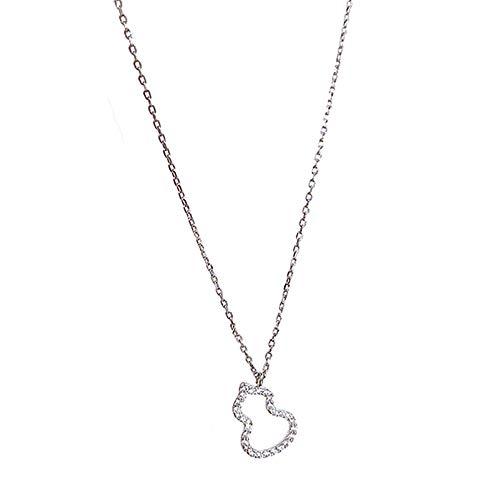 ETERNAL QUALITY Frauen Halsketten Short Hoist Schlüsselbein Kette Kleidung Gesamtlänge 40.5Cmpendant Necklaceclothing Zubehör Schmuck Geburtstagsgeschenke Für Sie Silber