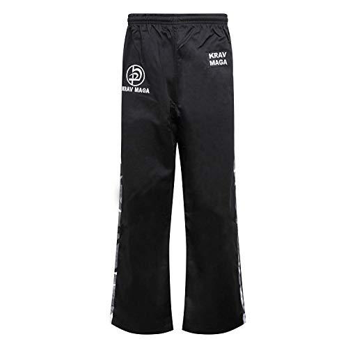 Krav Maga Combat Black W/ 2 Urban Camo Stripes - Cotton