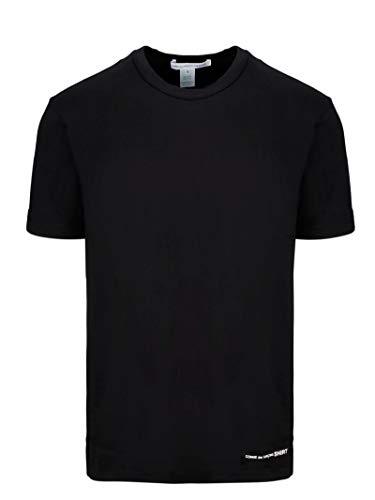 Comme des Garçons Shirt Herren W271111black Schwarz Baumwolle T-Shirt -