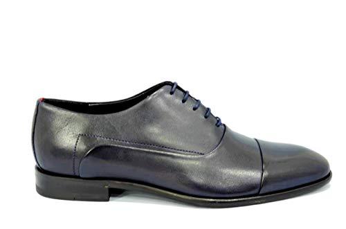 Hugo Boss Appealoxfrltct, Schuhe Schnürschuhe Oxford Herren Blau 50383576 - Siehe Fotos, EU 43 UK 9