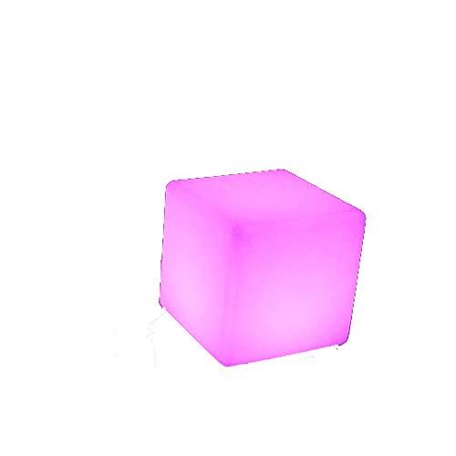 Paddia LED Cubo Taburete de luz Cambio de color Lámpara de humor Bar de jardín al aire libre Muebles Mesas de asiento Silla Iluminación que cambia de color A prueba de agua Los niños tienen modos de c