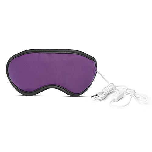 Eye Massager USB Hot Dampf Augenmaske Blackout Kohlefaser Heizung Elektrische Augenschutz,Purple