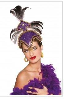 Deguisement Coiffe Brésilienne Luxe Violette