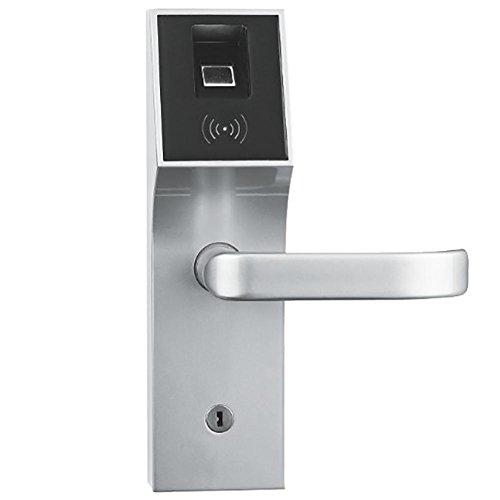 TDJDYQ Zinklegierung Fingerabdruck Diebstahlsicherung Keyless-Zugang Fingerabdruck/ IC-Karte / Mechanischer Schlüssel Intelligenter Sensor Türschloss Für Zuhause / Büro , Silver