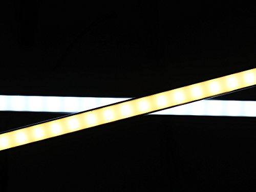LEDPLAY Dimmbar Alu LED Lichtleiste Kit mit Magnet Unterbaubeleuchte Küche Schreibtisch Beleuchtung 35cm 6W USB 2.0 Touch Dimmer - Weiss