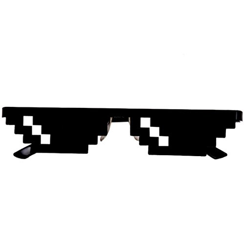 Idomes Glasses Thug Life 8-Bit-Pixel-Deal mit IT-Sonnenbrillen Unisex Goggles Toy