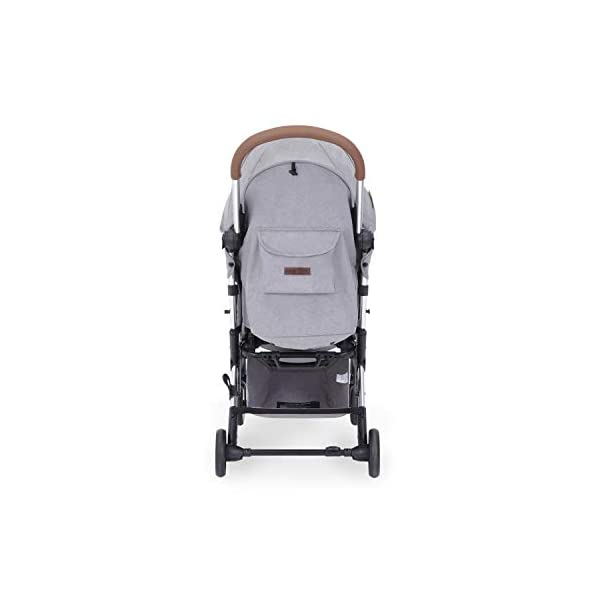 Ickle Bubba Globe Max Baby Stroller | Lightweight and Portable Stroller Pushchair | Folds Slim for Ultra Compact Storage | UPF 50+ Extendable Hood, Footmuff and Rain Cover | Grey/Silver Ickle Bubba ONE-HANDED 3 POSITION SEAT RECLINE: Baby stroller suitable from birth to 15kg-approx. 3 years old; features luxury soft quilted seat liner, footmuff, cupholder, and rain cover UPF 50+ RATED ADJUSTABLE HOOD: Includes a peekaboo window to keep an eye on the little one; extendable hood-UPF rated-to protect against the sun's harmful rays and inclement weather ULTRA COMPACT AND LIGHTWEIGHT: Easy to transport, aluminum frame is lightweight and portable-weighs only 6.4kg; folds compact for storage in small places-fits in aeroplane overhead; carry strap and leather shoulder pad included 3
