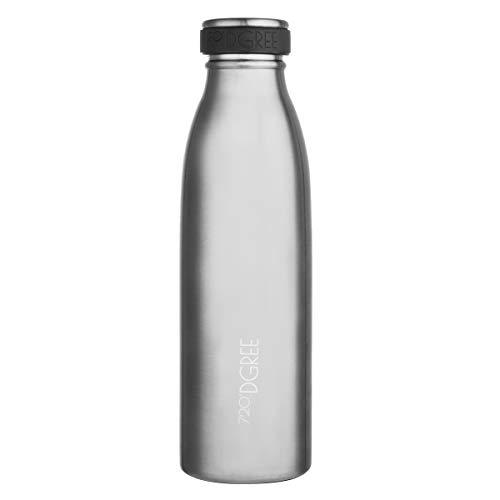 720°DGREE Edelstahl Trinkflasche milkyBottle- 500ml, 0,5 l | Isolierflasche Schmal | Thermosflasche Auslaufsicher | Perfekte Outdoor Thermoskanne für Kinder, Schule, Kindergarten, Mädchen, Jungen