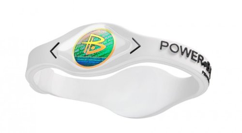 Power Balance Silikon-armband, white / black, L, GWSA09WT00BKLP