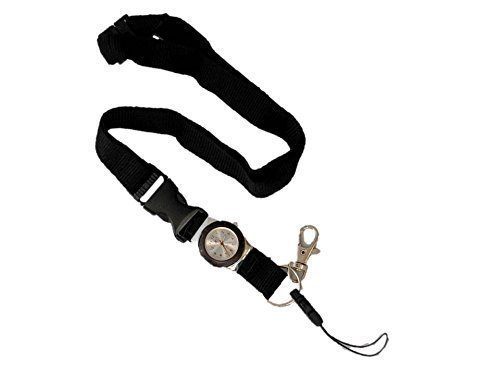 lanyard-with-integrated-watch-free-delivery-black