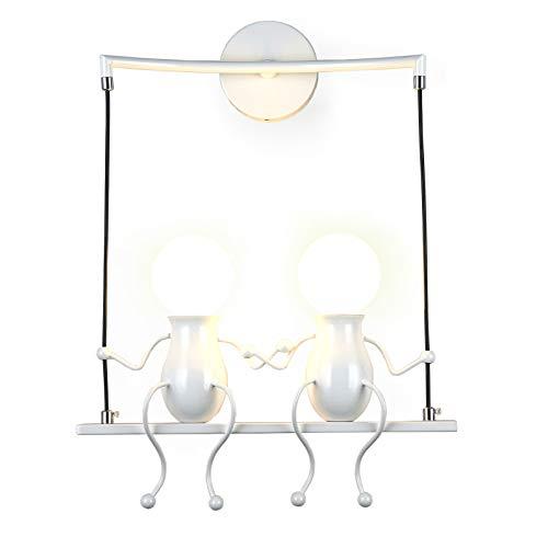 Lámpara para habitación infantil Vintage lámpara de metal lámpara de pared industrial...