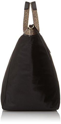 Borsetta Da Donna Borbonese Shopping Con Tracolla, 36x32x20 Centimetri Nero (nero Op Nat)