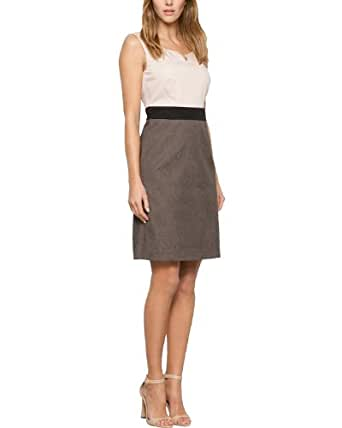Comma Damen Etui Kleid 81.404.82.4579, Mini, Gr. 42, Grau (taupe)