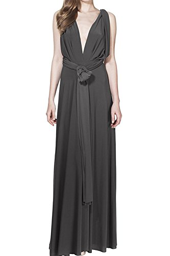 Damen Frauen Multi-tragen Kreuz Halfter Abendkleid Brautjungfer Langes Kleid Multiway-Kleid...