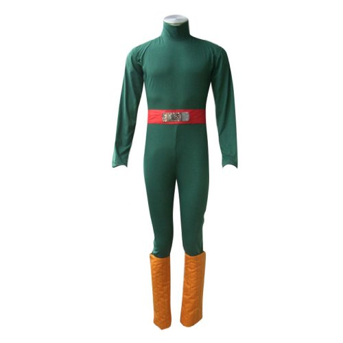 Rock Kostüm Lee - Dream2Reality japanische Anime Naruto Cosplay Kostuem -Rock Lee 1st Ver Kid Size Large