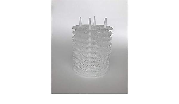 Set rialzo CNC 4/fori bianco
