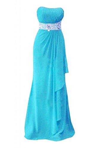 Sunvary elegante sera senza spalline abito da sera, abiti da damigella d'onore abito Pageant Blue