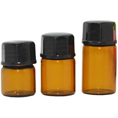 30PCS Mini vuoto vetro ambra bottiglia di olio essenziale, Lozione