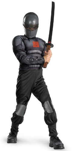 Disguise G.I. Joe Retaliation Snake Eyes Light Up Deluxe Muscle Chest Kinderkost-m 7-8