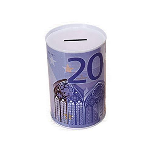 Euro Dollar Money Box Safe Cylinder Piggy Bank Banks For Coins Deposit Storage Boxes Home Decoration A (Dollar Und Coin Bank)