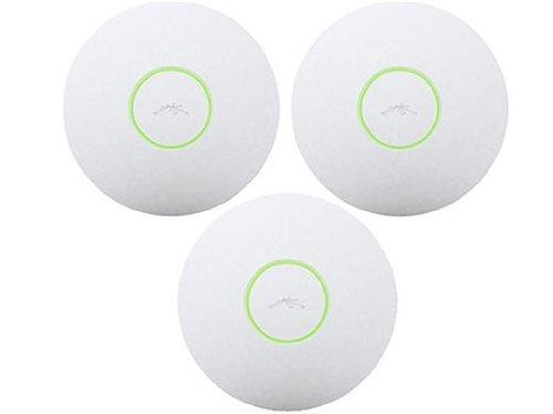 Wasp UniFi AP 3er-Pack 300Mbit/s Ethernet-Verbindung, unterstützt die Stromversorgung über diesen Port (PoE), Zugangspunkt für lokale kabellose Netzwerke,(300Mbit/s, IEEE 802.11b, IEEE 802.11b, IEEE 802.11g, IEEE 802.11n, WLAN, UniFi Controller)
