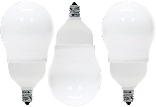 GE LIGHTING Energy Smart CFL A17 Glühlampe mit Kandelaber Boden, Weiß (Soft White) 11 wattsW 120 voltsV (Energy Cfl Smart)