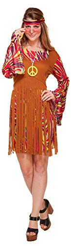 1960er Hippie Kostüm - Damen 1960er 1970er Jahre Fransen lang