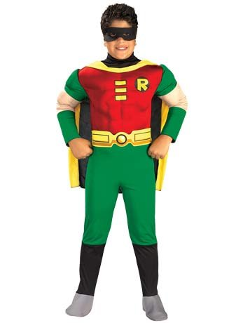 Muskulös Robin Kostüm Kind