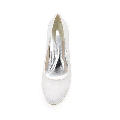 Moda Donna Sandali Sexy donna tacchi Primavera / Estate / Autunno tacchi / Round Toe nozze di seta / Party & Sera White