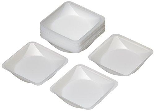 neoLab 1-1124 Einmal-Wägeschalen, 41 mm x 41 mm x 8 mm, Weiß (500-er Pack)